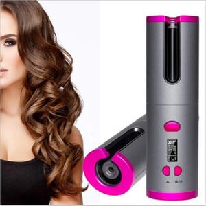 2020 nuovi senza fili dei capelli Auto bigodino mini automatico Styler dei capelli Strumenti regolabile Temperatura di ricarica USB voce buona