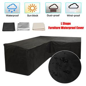 L Forma Sofá Cover Funda Piano Sofá Sofá Cubiertas para Sala de estar al aire libre a prueba de polvo impermeable Muebles de jardín