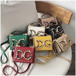 borsa a tracolla rivetto Lettera donne borsa di modo 7 di colore elegante della borsa della borsa di Crossbody Piccolo Messenger Bag Tote GJY969 all'ingrosso