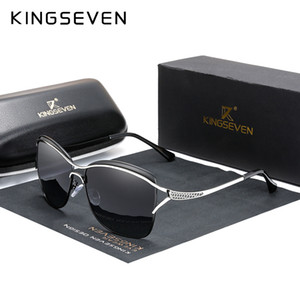 KINGSEVEN 2020 Retro Womens Sun glasses Polarized Luxury Ladies Brand Designer Gradient Lens Sunglasses Eyewear For Women Female CX200706