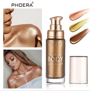 DHL FREESHIPPING PHOERA Todo el cuerpo Iluminador Facial Shimmer Cuerpo Líquido Resaltador Maquillaje Crema Dewy Glow Shine Hidratante
