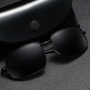 Мужские поляризованные очки вождения очки Рыбалка Марка Конструктор площади Классические солнцезащитные очки для мужчин женщин очки UV400