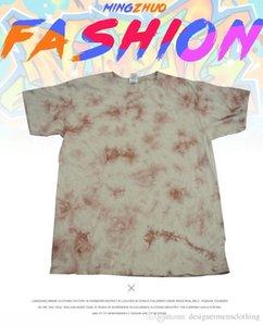 Tie-dye T-shirts ras du cou à manches courtes Tops Fashion Imprimé adolescents Vêtements décontractés été Mens Designer