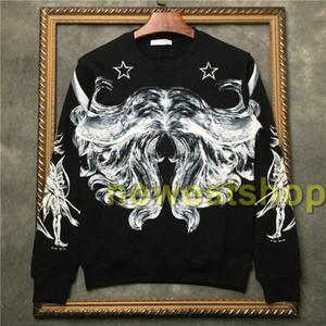 2020 new Luxury Mens graffiti abstract line pentagram printing Sweatshirts high quality fashion star print hoodie sport Designer hoodies top
