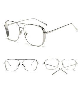 atacado 2019 homens Luxo Óculos de sol de ouro de prata full frame design vintage lentes sol claras para homens brilhante do ouro Hot vender vidro