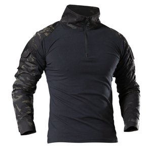 Outdoor hiking T shirt Men Army Tactical SWAT Soldiers Combat T-Shirt Long Sleeve Camouflage Shirts Paintball Tees 4xl