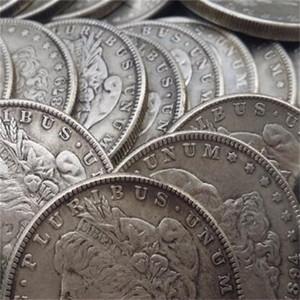 США полный набор Morgan Dollars 1878-1921 96 шт. Разные дата копирования монеты металла умирает производство заводской цена