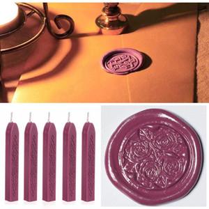 Posta Harf Manuscript Wicks Wax Mum Bougie Mum Düğün Malzemeleri için 5Pcs 85 * 10 * 10mm Şarap Kırmızısı Sızdırmazlık Conta Wax Çubukları