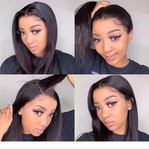 full lace human hair Pre Plucked Hairline Straight Lace Front Wig 13x4 Lace Front Human Hair Wigs 150% Remy