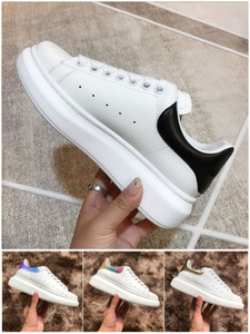 Frauen Männer beiläufige Schuh-Turnschuh Art und Weise Turnschuhe der Frauen Leder Turnschuhe aus Wildleder Gehen Kleid-Schuhe Teller-forme Chaussures