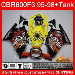 Кузов + бак для HONDA CBR 600F3 600cc CBR600 F3 95 96 97 98 41HC.42 CBR 600 FS F3 CBR600FS CBR600F3 1995 1996 1997 1998 Горячие Repsol обтекателя