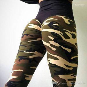 Clothes Camouflage High Waist Pants Sports Athletic Yoga Pencil Pants Women