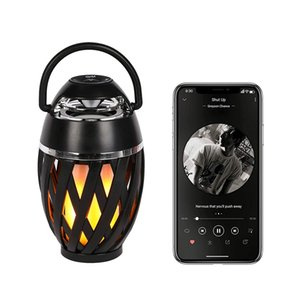 DHL Amazon A1 LED Outdoor FLAME Speaker LIGHT Bluetooth Mini Speaker MP3 Player TF FM Radio Computer Speakers SD Card Gift Speaker