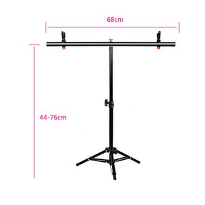 hoto Studio Accessories Photography PVC Backdrop Background Support Stand System Metal Backgrounds For Photo Studio With 2 Clamps 68cm X ...