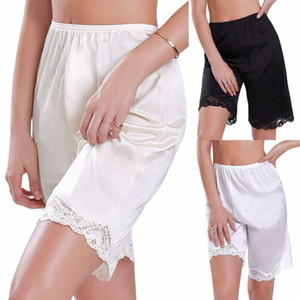 Le donne più dimensioni di sicurezza pizzo pantaloni short biancheria delle donne del pugile mutandine comode ropa interior femenina