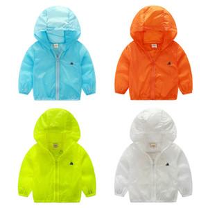 Frühling Sommer Lässige Kapuze Jungen Mädchen Oberbekleidung Charakter Kinder Jacken für Jungen Mädchen Sonnencreme Kleidung Zusammenklappbar