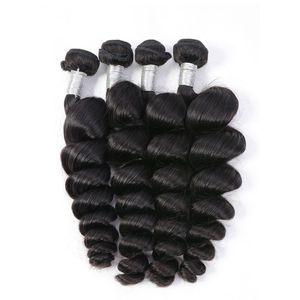 الحديث مشاهدة البرازيلي فضفاض موجة الشعر Virign حزم الشعر الإنسان الأسود الطبيعي غير المجهزة البرازيلي نسج الشعر حزم