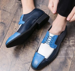 2020 British Trend Men colors Patchwork oxford shoes Male moccasins Wedding prom Homecoming office Shoe Sapato Social Masculino hh22