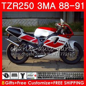 Corpo per YAMAHA TZR-250 3MA TZR250 88 89 90 91 118HM.27 TZR250RR TZR250 RS RR Rosso nero stock YPVS TZR 250 1988 1989 1990 1991 Kit carena