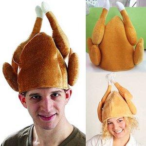 Turquía sombreros de Acción de Gracias Día de bricolaje Turquía adultos sombrero divertido asado de vestuario accesorios del regalo de Turquía Sombrero equipo de Halloween de Acción de Gracias