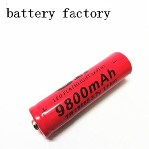 Red GIF18650 9800mAh 3.7v pointed lithium battery can be used for electronic products such as bright flashlight. F