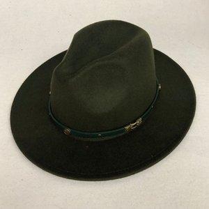 ZJBECHAHMU Casual Outono-Inverno Imitação de lã Mulheres Homens Senhoras Fedoras Top Jazz Hat Redonda Europeia americano Caps Bowler Chapéus