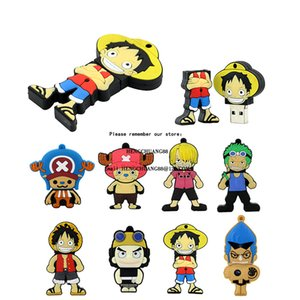 Japon One Piece Pirate Skeleton USB Flash Drive 128 Go D. Luffy 32GB U disque dur 64GB Pen 16 8 Go USB Memory Stick de bonne qualité peut passer H2