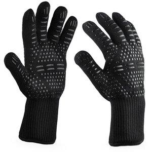 Hot churrasco Grelhar Cozinhar calor extremo resistentes forno gants isolamento resistente Welding calor femme Luvas Luvas de chapéus, cachecóis luvas l