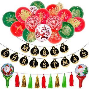 12 pulgadas de navidad dorado trajes de globos oro negro tarjetas y banderas de látex lentejuelas globos conjuntos favores de partido suministros 20 3hq E1