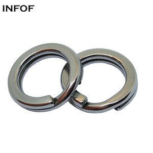INFOF Brand 500pcs lot F6056-2 Double Strength Split Rings Stainless Steel Heavy Double Rings Connector Carp Fishing Accessories Saltwater