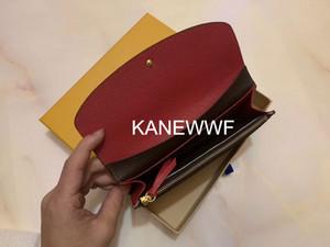 with box women wallets lady long wallet multicolor fashion coin purse Card holder original box women classic zipper pocket