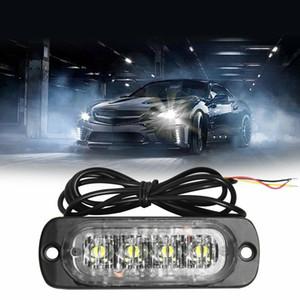 4 LED 12-24V автомобиль грузовик Стробоскопическая вспышка света боковое предупреждение предостережение лампа AU