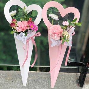 Kraft Flor Paper Bags Rose Florist Embrulhos Box Flor embalagens criativas Handle Box Decoração 18 * 46,5 centímetros