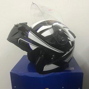 Sıcak Satış Dot Tam Yüz Mat Gümüş Çift Visor Motosiklet Undrape Yüz Kask Önlemek Damlacık Motosiklet Çift Mercek Casque Off Road In Stock