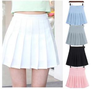 Uniforme meninas Tênis Saias A Malha vestido curto de cintura alta plissada Tennis Saia com Shorts Inner Cuecas para Badminton Cheerleader