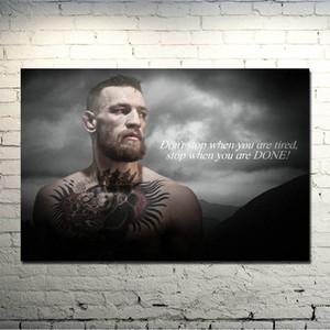 Conor McGregor UFC Motivation BOXT Seide oder Leinwand Poster 13x20 24x36 Zoll Bild für Wohnzimmer-Dekor -025