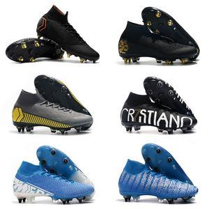 Erkekler Spor Açık Çizme Futbol Ayakkabı Profilli için 2019 Mercurial Superfly VI 360 Elite Neymar SG AC Futbol Futbol Ayakkabı