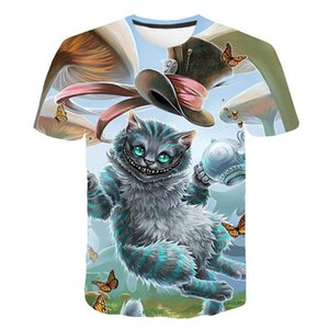 nuova presa di fabbrica di estate di vendita diretta nuovo diavolo cartone animato navigazione europee e americane di stampa digitale tendenza a maniche corte uomo T-shirt