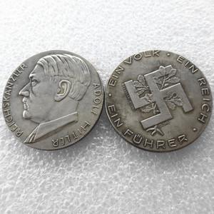 H (09) Allemagne Pièces commémoratives 1933 Pièces de monnaie Copie Brass Craft Ornements