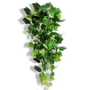 Planta de jardín de ratán artificial realista Sala Verde hiedra hoja de la uva de alta calidad de vid verdes vides lufa los 96CM