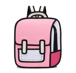 رسوم متحركة كارتونية ذات بعدين على حقيبة ظهر فاخرة على شكل حقائب مدرسية عالية الجودة