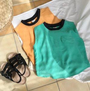2020 New Wholesale Girls Boys Top Cotton Fashion Summer Kids Vest 2-7t QH570