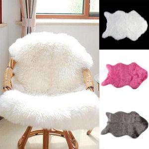 Quente super macio Faux carneiro lavável Tapete Cabeludo assento Pad Fluffy Tapetes da pele do falso Mats para o assoalho Cadeiras Sofás Almofadas Blanket