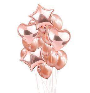 Foil Cuore palloncini in lattice Balloon Set festa nuziale della lattice dell'aerostato a Wedding le decorazioni della festa di compleanno