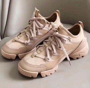 homens de designer sapatos florais Moda Mulheres Sneakers Neoprene Grosgrain fita D-Connect Shoe Lady wrap-around Rubber Sole Casual Shoes q5