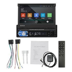 مشغل الوسائط المتعددة للسيارات 1 Din Gps Navigation Car Radio RETRACTABLE GPS Auto Radio Touch Screen MP5 Support Camera
