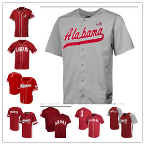 Mulheres Juventude NCAA Alabama Crimson Tide COLLEGE Baseball Jersey Jimmy Nelson Alex Avila Mikey dos homens feitos sob Branco Cody Henry Jett Manning