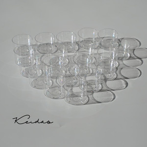 Round Shape Clear Polycarbonate Candle Containers for DIY Wedding Candle Making 40PCS with wicks