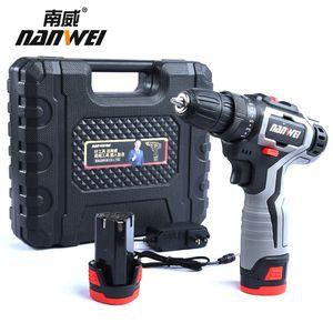 18v sans fil rechargeable tournevis électrique sans fil Drill Mini Power DriverDC Batterie Lithium-Ion 2 vitesses outil