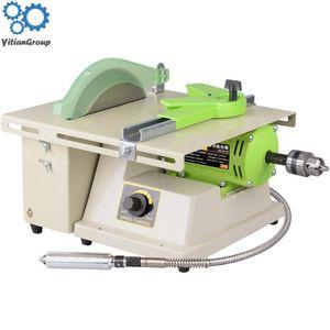380w mini Sierra de mesa de la máquina pulidora de piedra de jade máquina de grabado de la máquina de molienda de corte sierras de mesa Jade